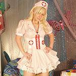 Patty Cake Candy Stripper Nurse Costume - Picture 1